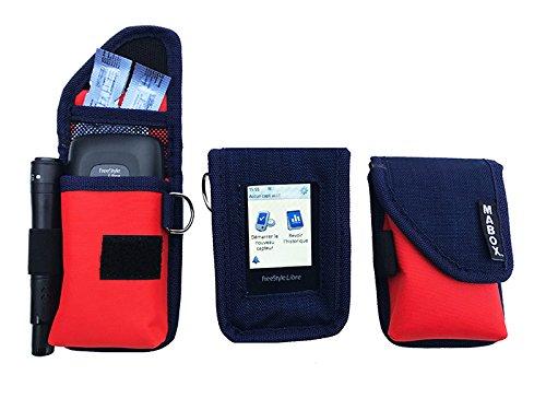 pochette de protection pour freestyle libre navy orange. Black Bedroom Furniture Sets. Home Design Ideas
